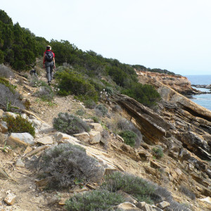 Walking along the coast at Trypiti in springtime