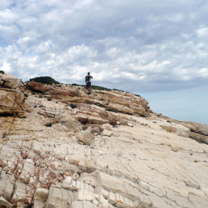 At the white marble rocks off Trypiti beach