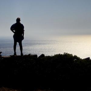 Staring at the sea on Kastellovouni hill, Angeria
