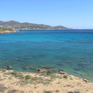 Cape Makrya Myti & the port of Alyki in the background