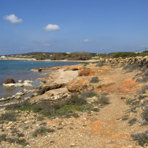 Our footpath along Cape Makrya Myti