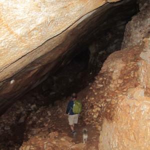 Walking inside the ancient quarry, Paros Isl.