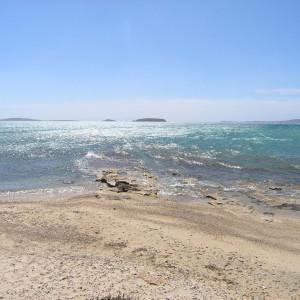 View to Tigani & Panteronisi islets from Pounta
