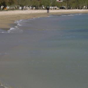 Walking back to Alyki along Aghios Nikolaos beach