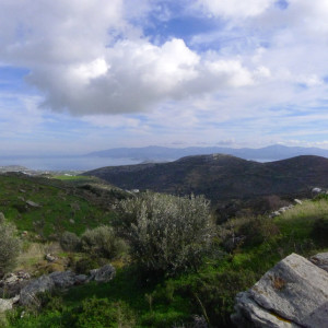 Naxos channel seen from Agrilies area off Lefkes