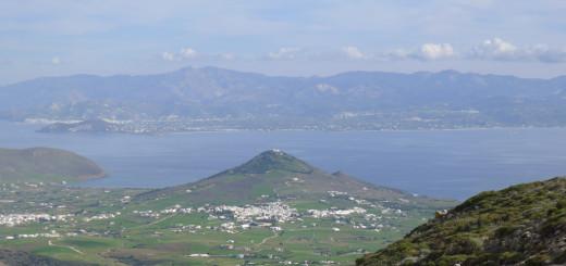 NE coast & Naxos from Vounala, off Lefkes