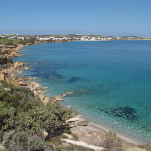 Ambelas coast, Paros, seen from the south