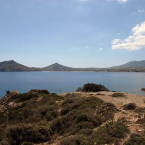 View of Kefalos and Antikefalos hills, Paros