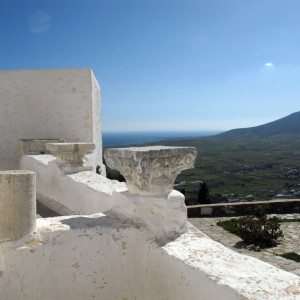 Terrace of the Aghios Antonios monastery , Paros