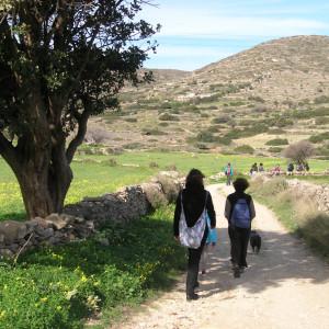 Walking to Xiropotamos, Matzoro area, Marathi
