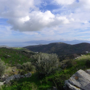 est view on Raches hill, north of Kostos village