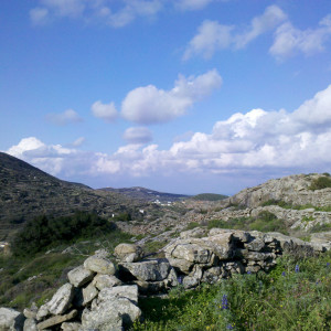 Old footpath above Apati, Lefkes