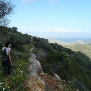 Uphill footpath to Pigados, Lefkes, Paros