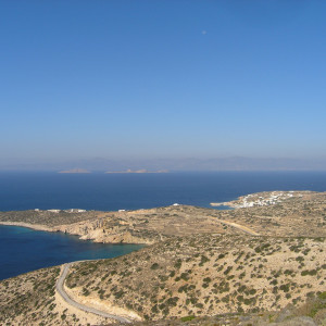 Stavros village & Kedros bay from the hills of Donousa