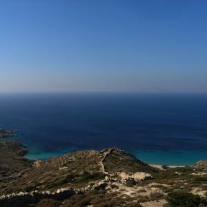 Livadhi bay seen from Vardia hill, Donousa island