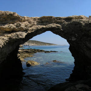 Roussa bay from Trypiti beach, Donousa island
