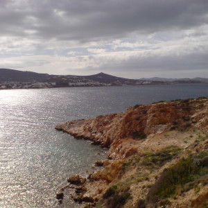 Parikia bay from Cape Krios, Paros, Greece