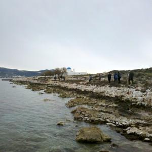 Approaching Aghios Fokas chapel, Paros, Greece