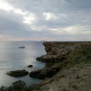 At Cape Aghios Fokas, Paros, Greece