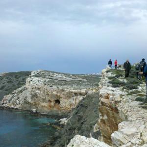 Archilochos cave and the NW coast, Paros, Greece