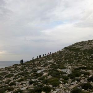 NW coast above Archilochos cave, Paros, Greece