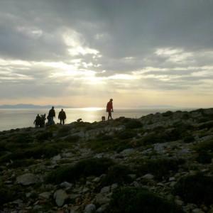 En route to Telegrafos hill, Paros, Greece