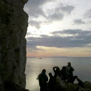 View of the Portes rocks, Paros, Greece