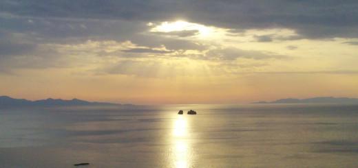Sunset from Telegrafos hill, Paros, Greece