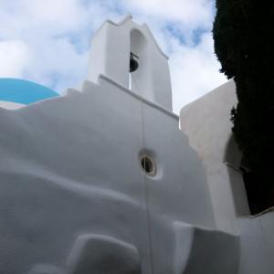 Inside Aghios Minas Monastery, Paros island