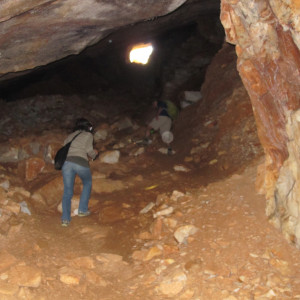 Nymphs Cave, ancient marble quarries, Paros