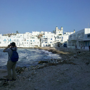 Shooting at the bay of Naoussa, Paros