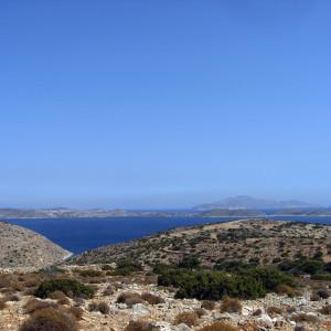 View E on the way to Profitis Ilias, Iraklia