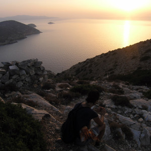 Sunset at Seladi heights, Iraklia island