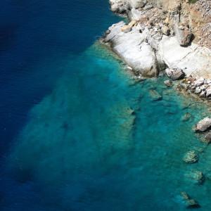 Blue sea of Iraklia island