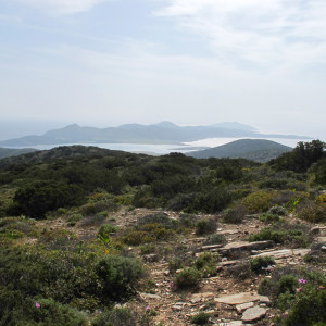 On higher ground- View to the SW, Antiparos