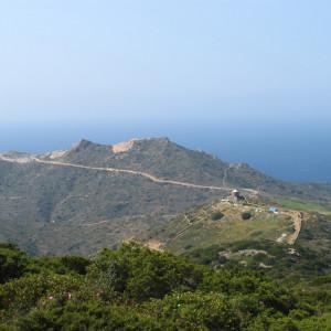 Koutsoulies hills from Profitis Ilias, Antiparos island
