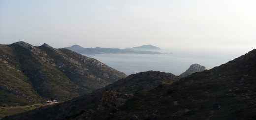 En route to Monastiria bay, Antiparos island