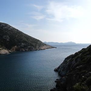 The bay of Megala Monastiria, Antiparos island
