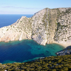The bay of Mikra Monastiria, Antiparos island