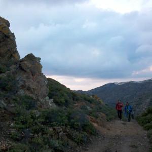 At Latomia area on return route, Antiparos island