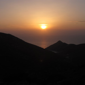 Sunset from Mt. Profitis Ilias, Antiparos island