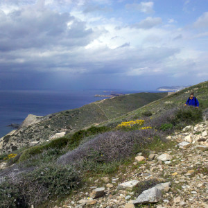 Great views high above the coastline, Antiparos island