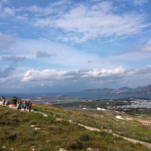 On return route above Antiparos town