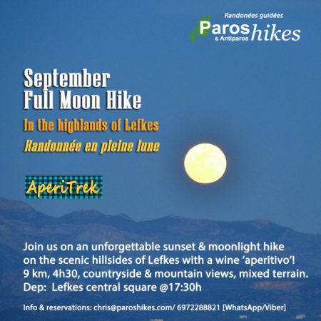 Full-moon hike Lefkes Sep 18