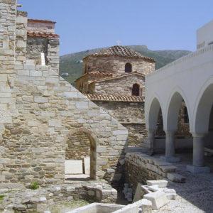 Ancient spoils in Ekatontapyliani Parian Marble Tour