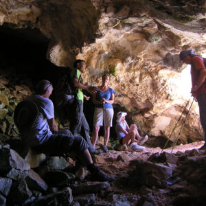 In the Cave of Pan, ancient marble quarries, Marathi, Paros island
