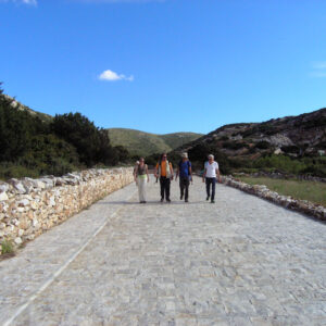 Marble-paved entrance to the ancient marble quarries